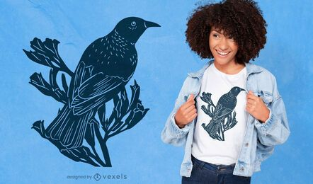 Tui bird cut-out t-shirt design