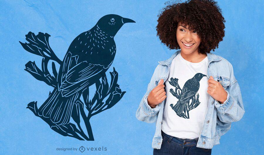 Tui bird cut-out t-shirt design