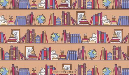 Library books pattern design