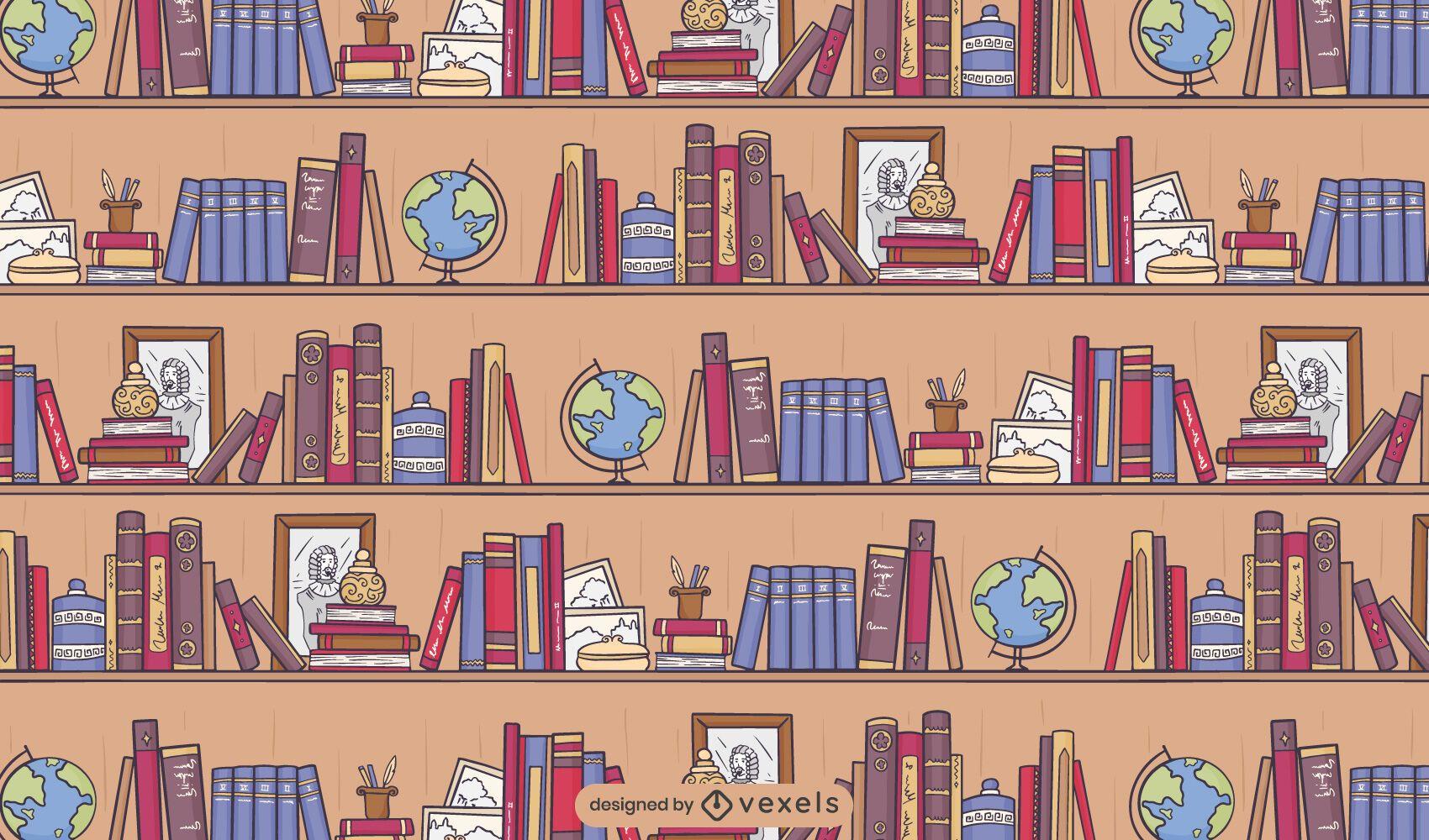 Library books pattern design