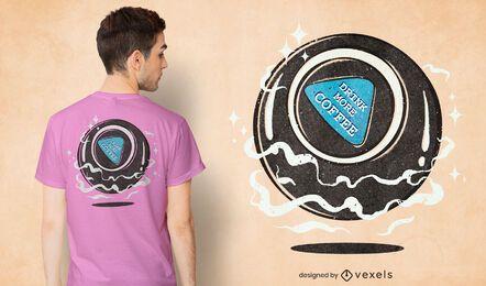 Diseño de camiseta de bola mágica.