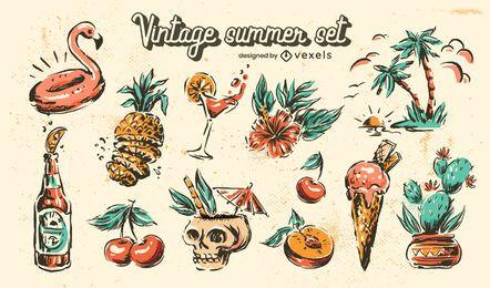 Vintage Sommer Set