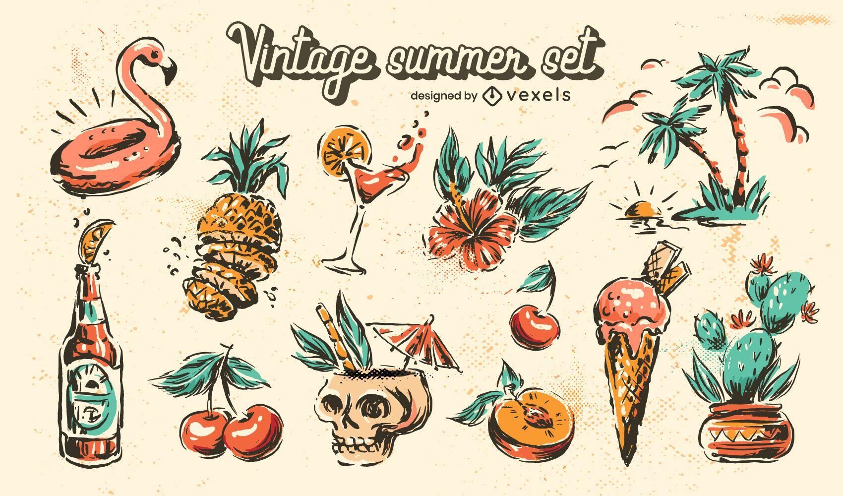 Vintage summer set
