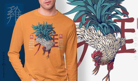 Design da camiseta do ano do galo