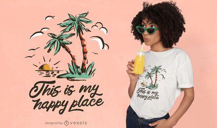 Diseño de camiseta vintage de verano