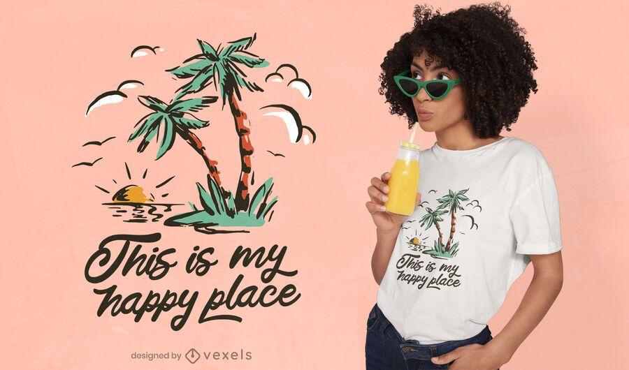 Summer vintage t-shirt design