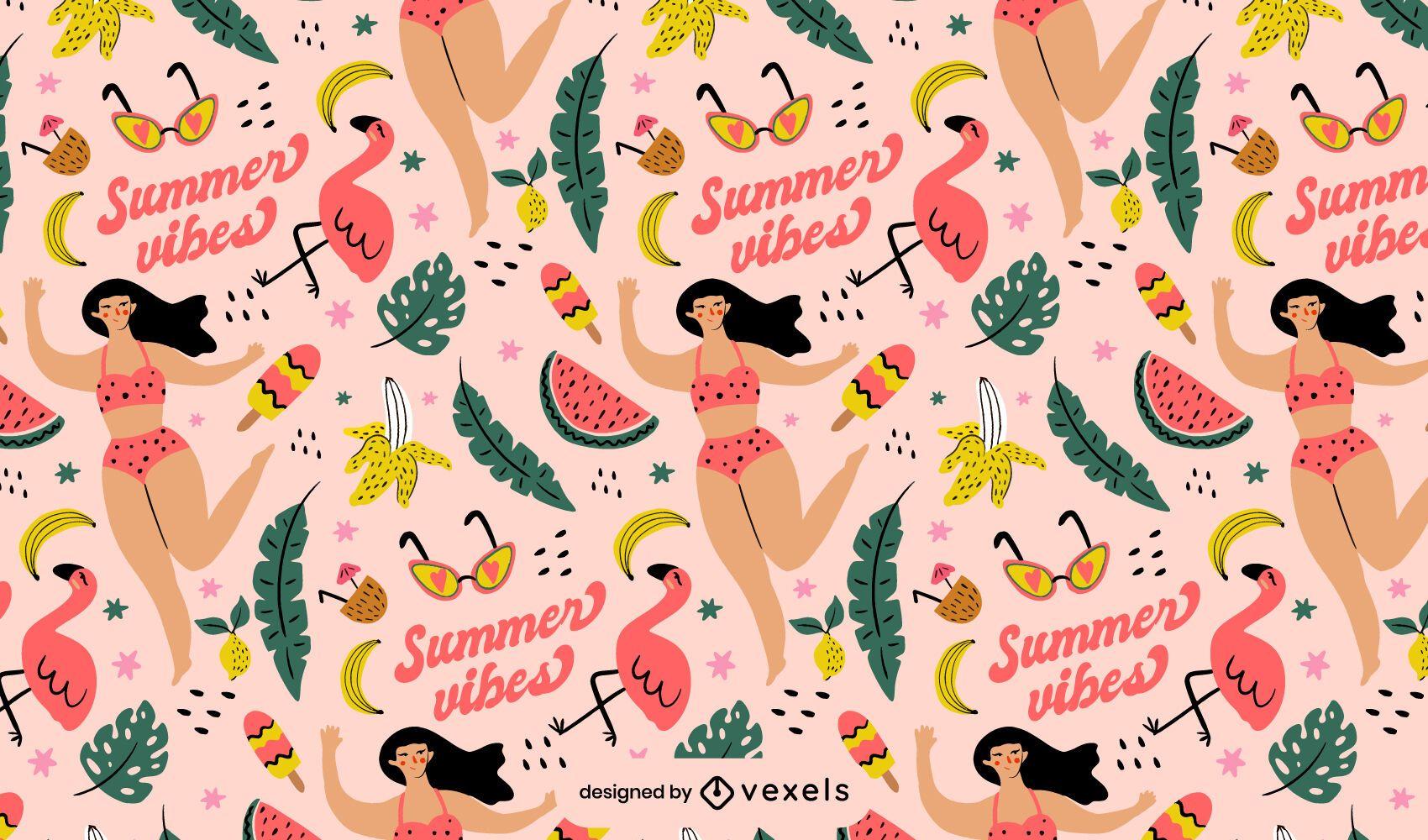 Diseño de patrón de verano