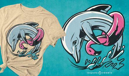 Floater dolphin t-shirt design