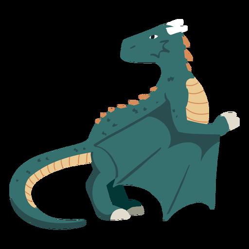 Ilustración de criatura dragón
