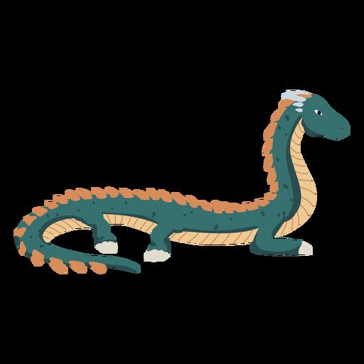 Long dragon illustration