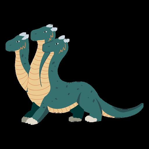 Ilustración de dragón de tres cabezas
