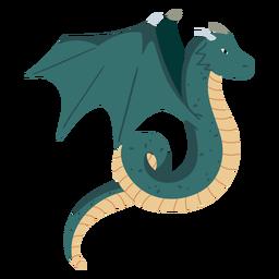 Ilustración de dragón alado