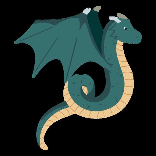Winged dragon illustration
