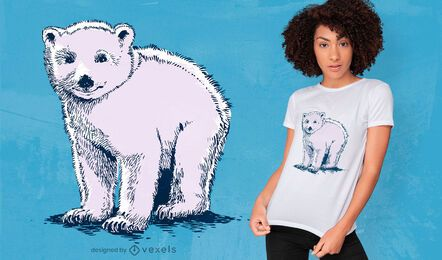 Diseño de camiseta bebé oso polar