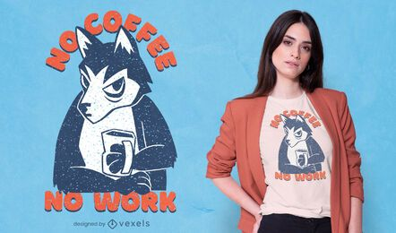 Coffee husky t-shirt design
