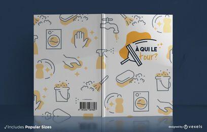 Design da capa do livro sobre tarefas domésticas