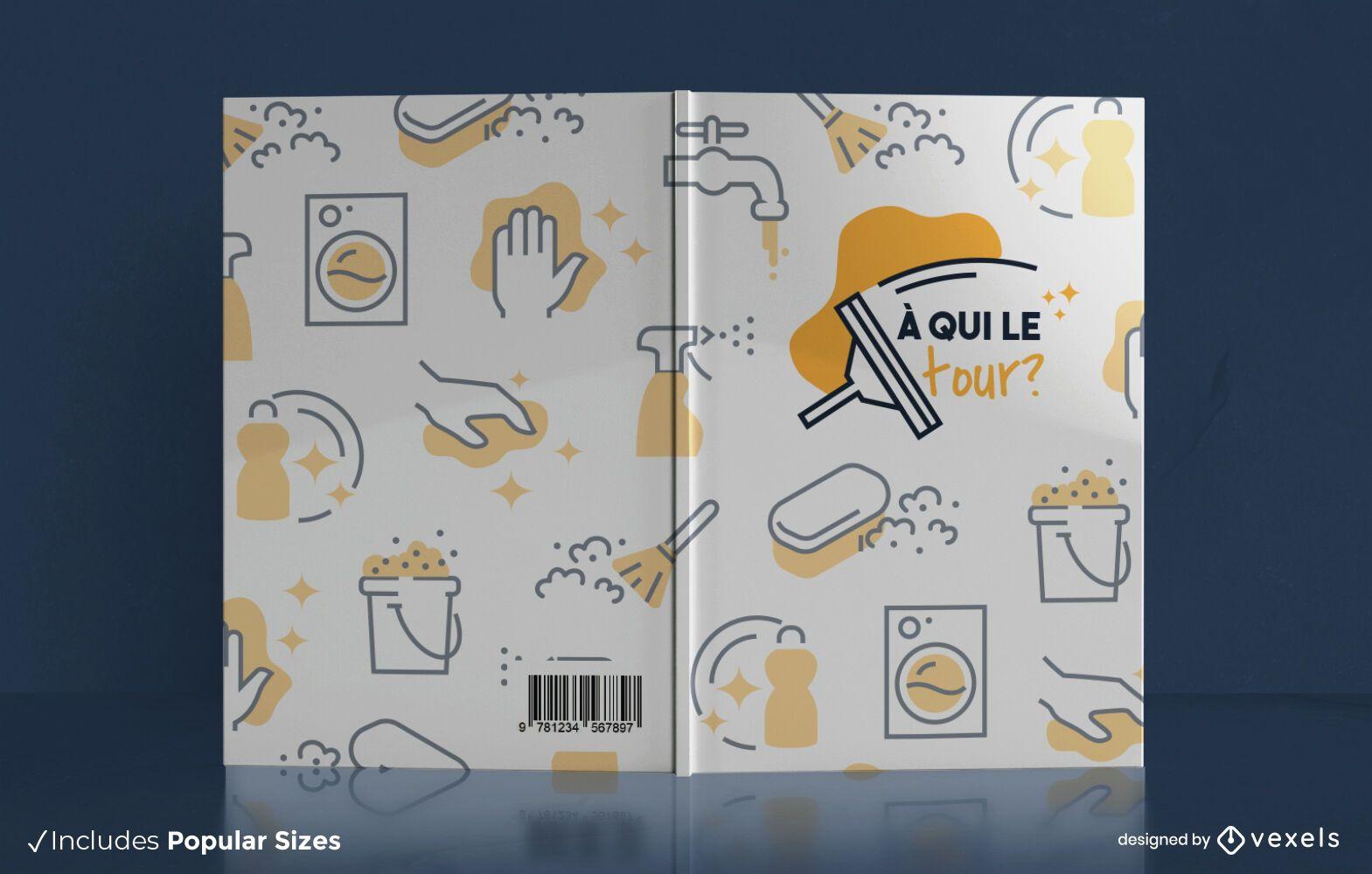 Diseño de portada de libro de tareas domésticas.