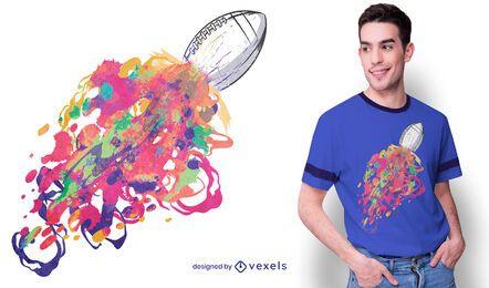 Diseño de camiseta de colores de fútbol americano.