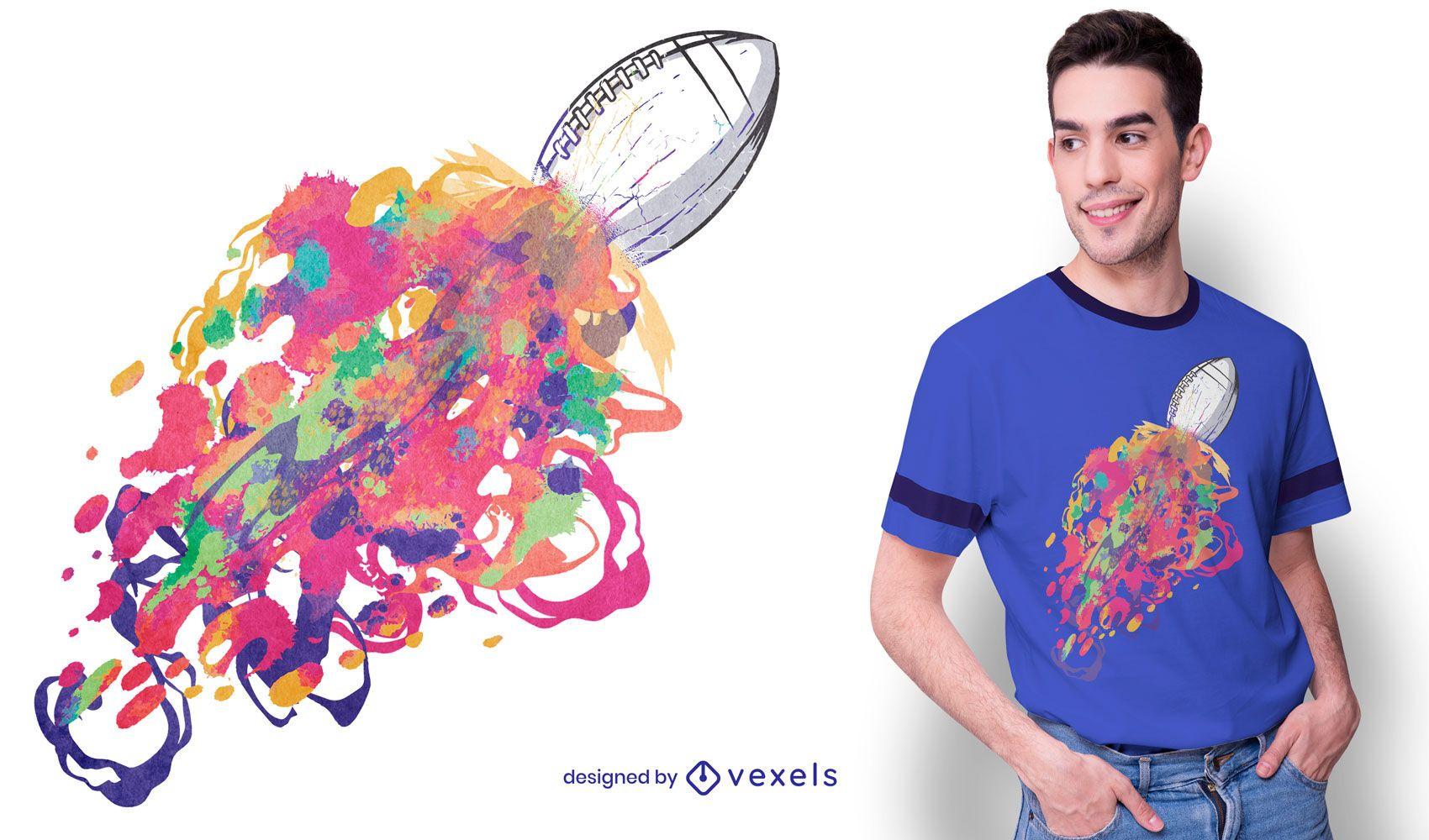 American football colors t-shirt design