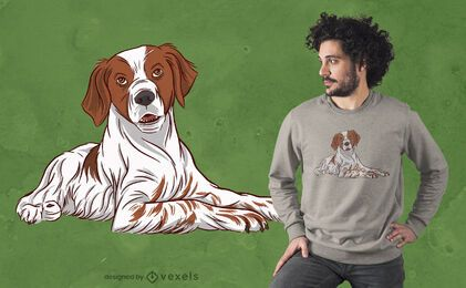 Brittany dog t-shirt design
