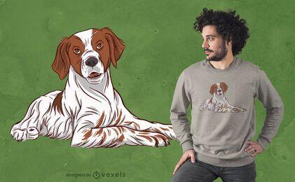 Diseño de camiseta de perro Brittany