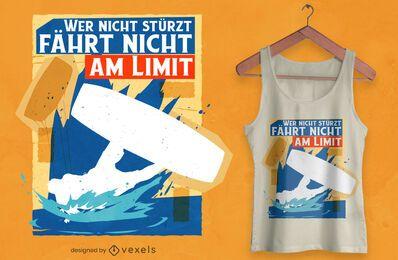 Falling kitesurfer t-shirt design
