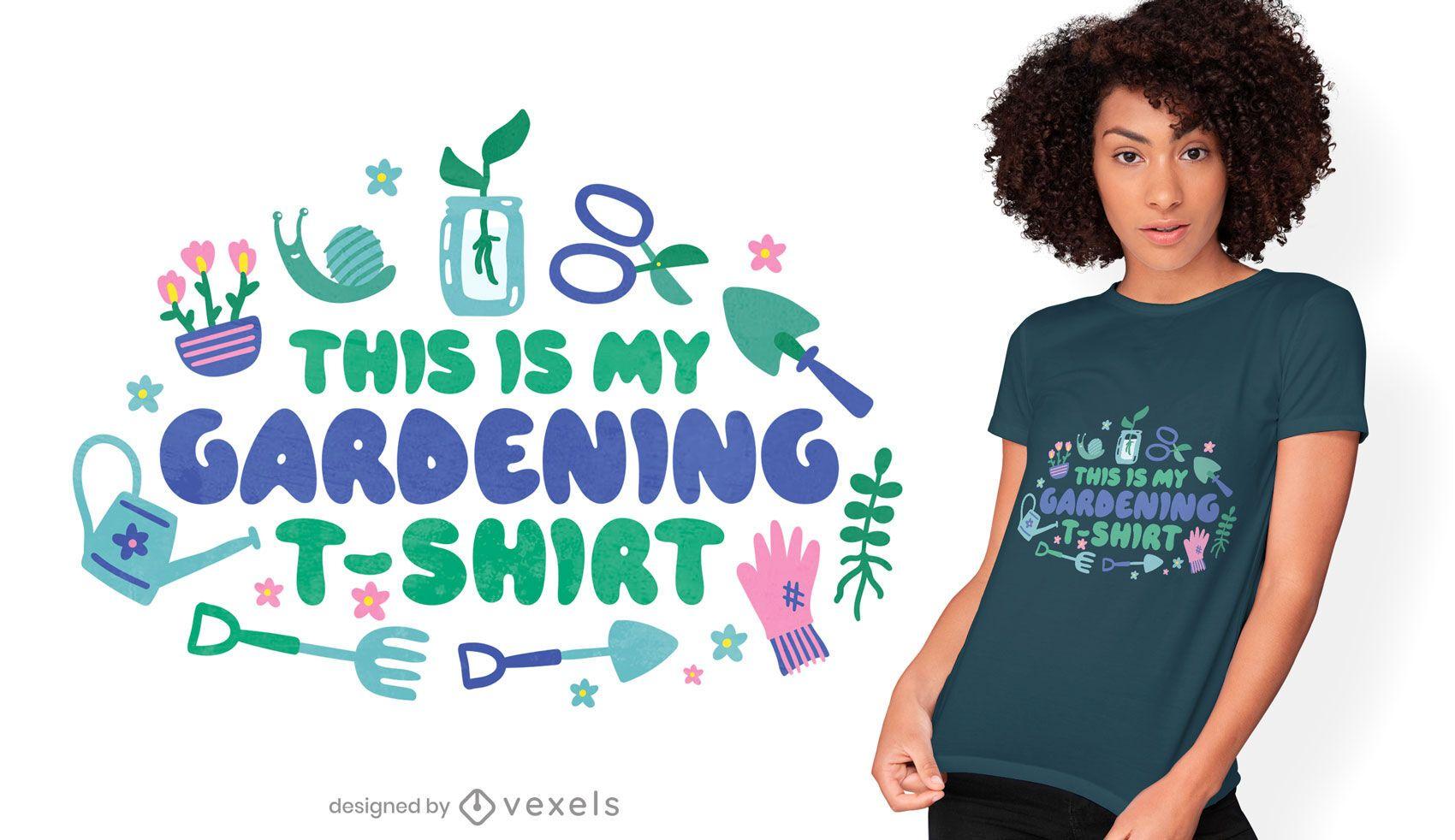 Gardening tools t-shirt design