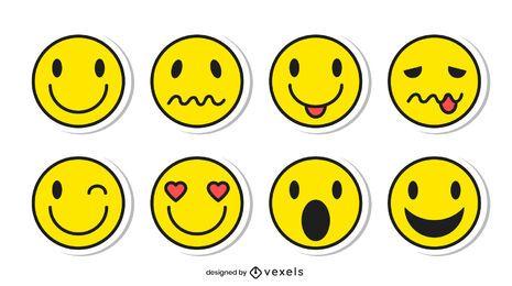 Emoji Aufkleber Set