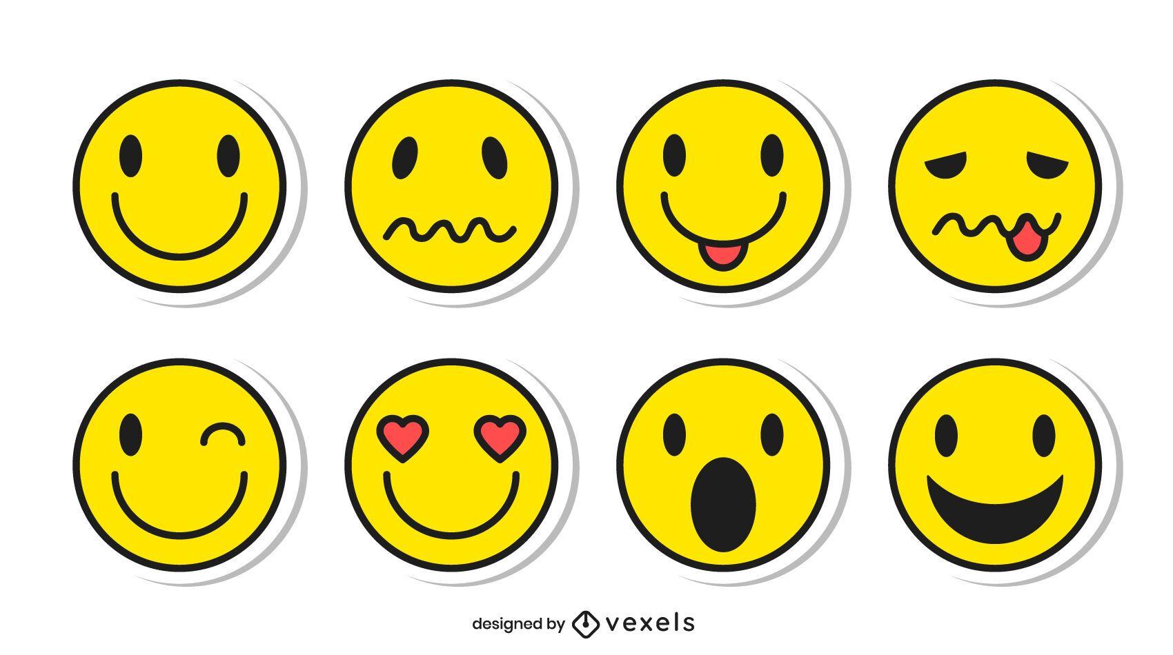 Conjunto de pegatinas emoji