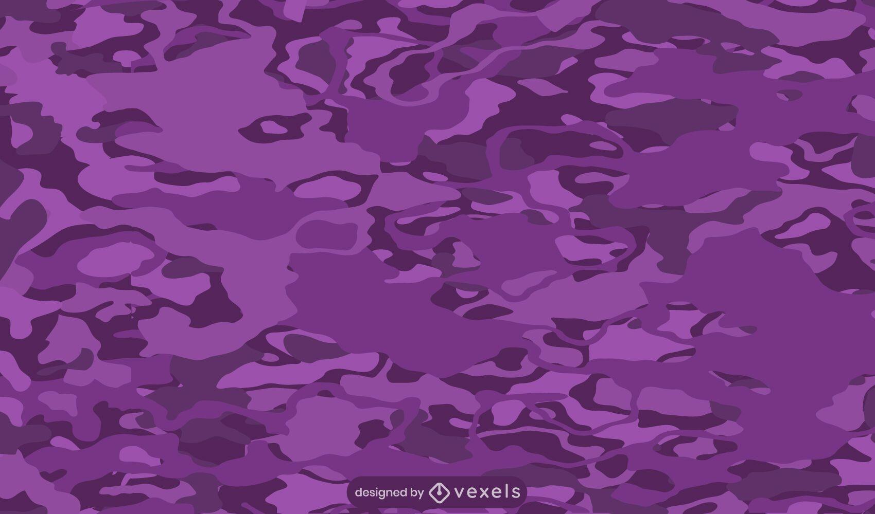 Diseño de patrón de camuflaje púrpura