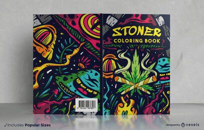 Stoner coloring book cover design
