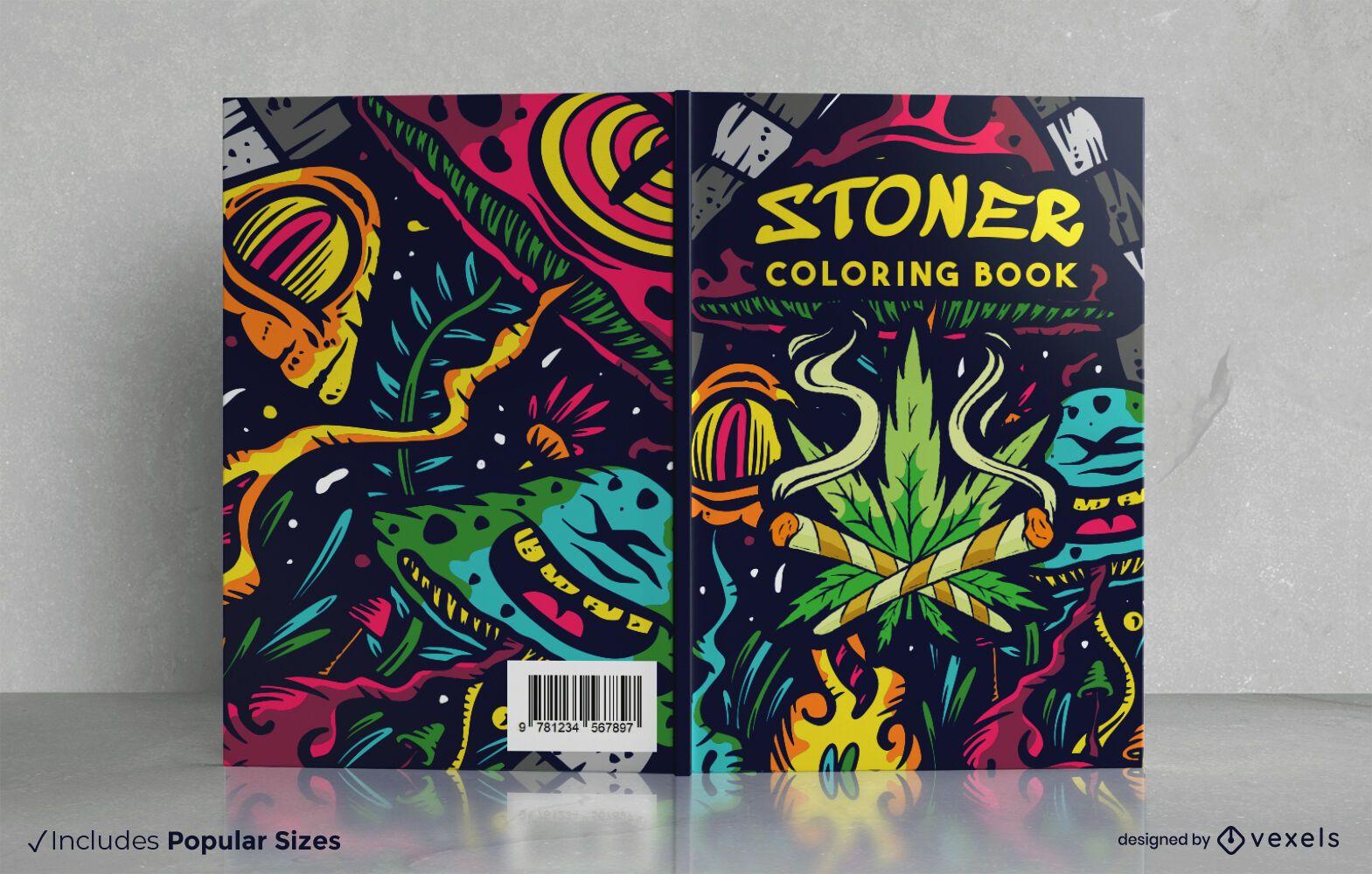 Stoner Malbuch Cover Design