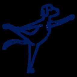 Golpe de perro de yoga