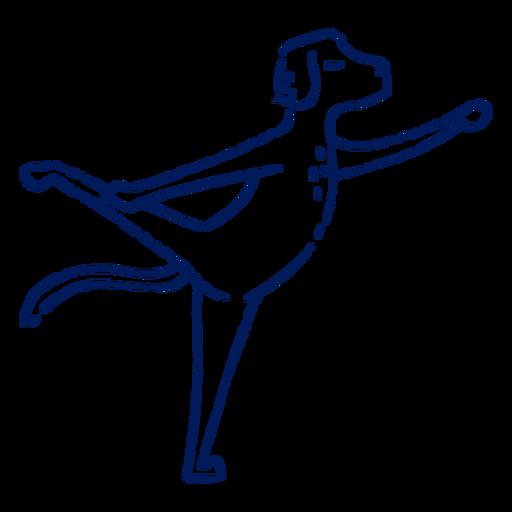 Yoga dog stroke