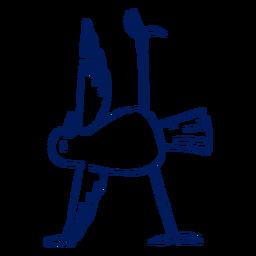 Golpe de pájaro de yoga