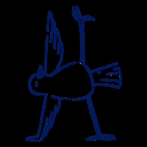 Yoga bird stroke