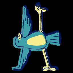 Trazo de color de pájaro de yoga