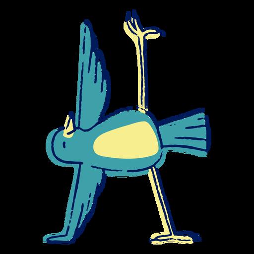 Yoga bird color-stroke