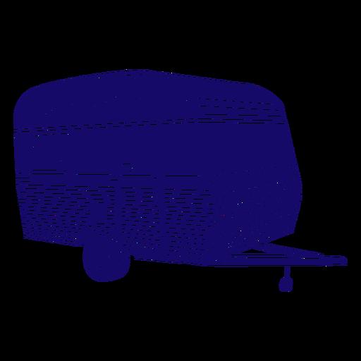 Recorte de remolque de caravana