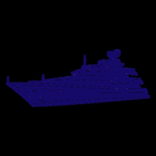 Fancy cruise ship cut-out