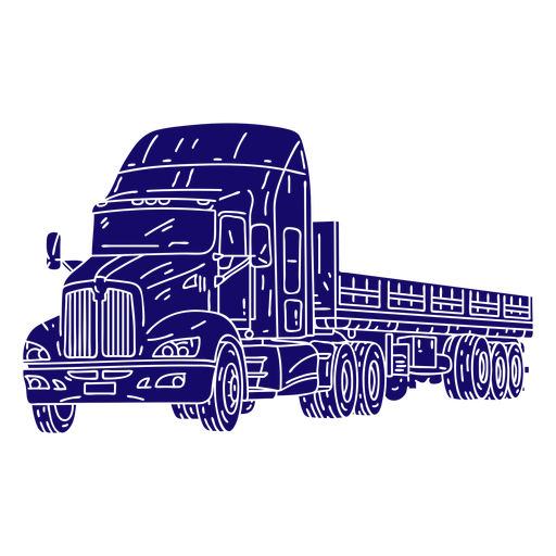 Big truck hand-drawn cut-out Transparent PNG