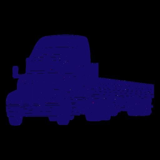 Recorte dibujado a mano de camión grande