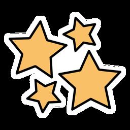 Group of stars flat