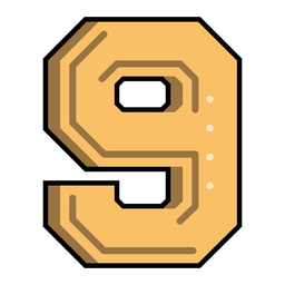 Number nine semi-flat