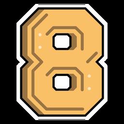 Number eight semi-flat