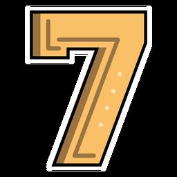 Number seven semi-flat