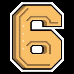 Number six semi-flat