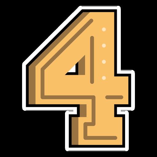 Number four semi-flat