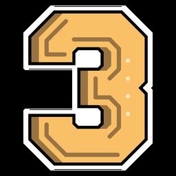 Number three semi-flat