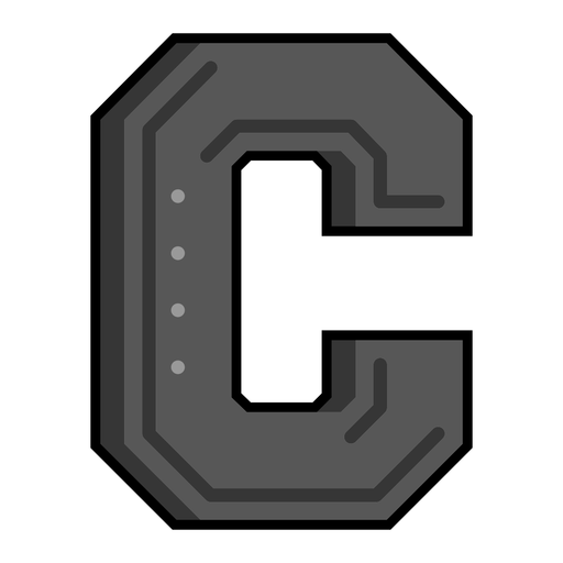 Letter C semi-flat